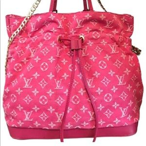 Louis Vuitton Limited Edition Pink Denim Noefull